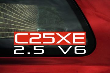 C25XE 2.5 V6 sticker ideal for Vauxhall / Opel Cavalier & Calibra 2.5 V6